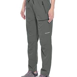 BALEAF Women's Hiking Pants Outdoor Lightweight Athletic Capris Pants Quick Dry Water Resistant UPF 50 Zipper Pockets