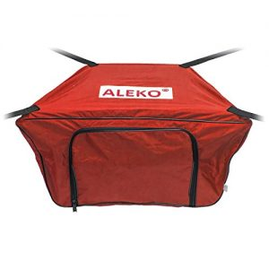 ALEKO BTFB320R Front Bow Storage Bag Gear Pouch for 10.5 Foot Boats Water Resistant 26 x 15 Inches Red