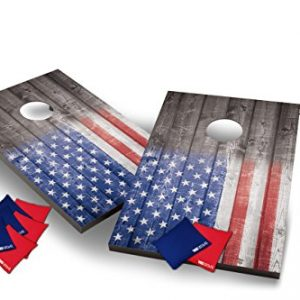 Wild Sports USA Flag Cornhole Outdoor Game Set