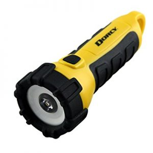 Dorcy Waterproof Battery Powered Floating LED Flashlight with Carabiner Clip