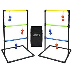 GoSports Indoor / Outdoor Ladder Toss Game Set with 6 Rubber Bolos