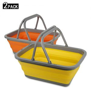 Tiawudi 2 Pack Collapsible Sink with 2.25 Gal / 8.5L Each Wash Basin for Washing Dishes