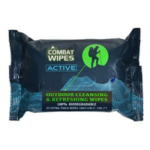 Combat Wipes ACTIVE Outdoor Wet Wipes | Extra Thick