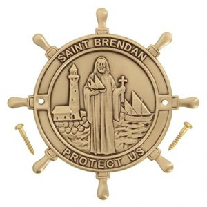Heartland Boat Plaque – Saint Brendan Protect Us – Best USA Made Quality Boating and Sailing Gift