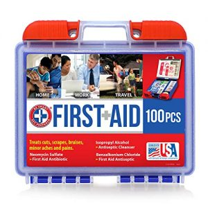Be Smart Get Prepared 10HBC01082 100Piece First Aid Kit