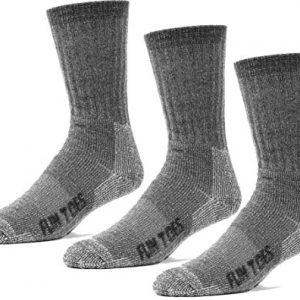 FUN TOES 3 pairs thermal insulated 80% merino wool socks men's