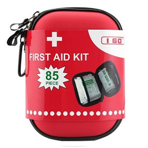 I GO Compact First Aid Kit – Hard Shell Case for Hiking