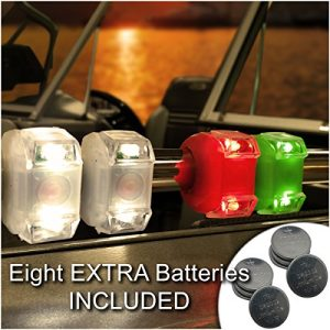 Bright Eyes Portable Marine LED Emergency Waterproof Boating Lights – Boat Bow or Stern Safety Light